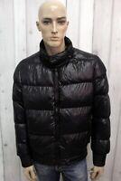 BIKKEMBERGS Uomo Giubbotto L Taglia 50 Giacca Giubbino Nero Piumino Coat Jacket