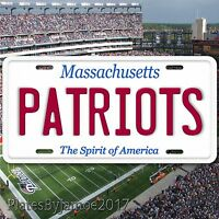 New England Patriots Massachusetts Aluminum Metal License Plate Tag  AFC NFL New