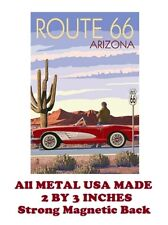 SM237- Vintage Route 66 Poster Travel 2 by 3 Inch Metal Refrigerator Magnet
