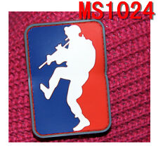 Tactical Militaria Climbing Design Rubber Patches w/Magic Back Patch New Style