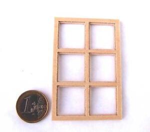bloxxs F-04 Fenster Holz für LGB SpurG Modellbau Gebäude Haus Diorama 1:22,5