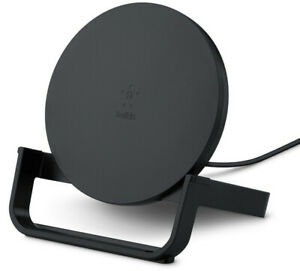 Belkin 7.5W Fast Wireless Charging Stand Black Charger Apple New Genuine