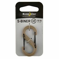 Nite Ize S-Biner Plastic #2 Tactical Coyote Brown Dual-Gated Biner  (12-Pack)
