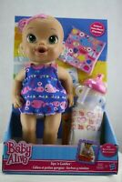 Hasbro Baby Alive Sips 'n Cuddles Doll Nautical Whale Dress