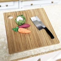 1Pc 1:12 Miniature Kitchen Knife Cutting Board Set Dollhouse Accessories FE