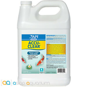 API Pond Accu-Clear 1 Gallon Quickly Clears Pond Water Fish Plant Wildlife Safe