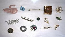 Vintage Costume Jewelry Pin Lot Estate Find #13