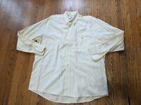 Men's Lacoste Size 42 Light Yellow Long Sleeve Shirt