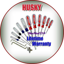 Husky 14-Piece Screwdriver Set Philips, Torx, Slotted Precision Machined Tips