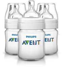 6 X Philips AVENT 125ml Naturnah Fläschchen, SCF690/27 Natural Flaschen,Sauger