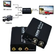 SD-SDI HD-SDI  3G-SDI to AV RCA Video + L/R Analog Stereo Audio scaler converter