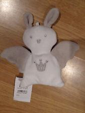 doudou Peluche Berlingot Lapin Rabbit Bunny Lièvre mouchoir blanc gris roi ange