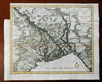 Kingdom of Bengal India Ganges Delta Aracan 1791 Dutch engraved map hand color