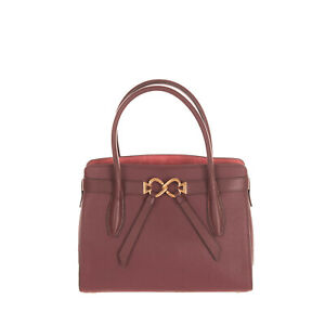 RRP €295 KATE SPADE NEW YORK Leather Tote Bag HANDCRAFTED Grainy Logo Clasp