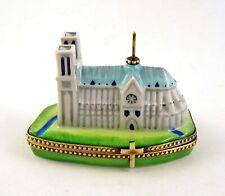 New French Limoges Trinket Box Amazing Notre Dame De Paris Cathedral
