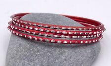 4 bracelets bangles rouge paillettes Bollywood danse orientale Rajasthan Inde