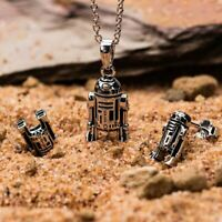 Star Wars R2-D2 Droid Earring and Pendant Jewellery Set - Sterling Silver Boxed