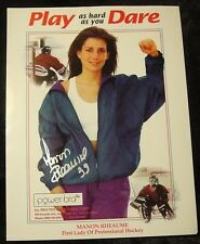 Manon Rheaume First Lady of Professional Hockey Signed Sports Bra Ad RARE HOT!!
