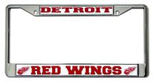 Detroit Red Wings Metal License Frame [NEW] Chrome NHL Car Plate Auto Tag CDG