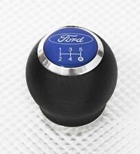 RICHBROOK OFFICIAL FORD BLACK LEATHER GEARKNOB LIFT UP