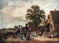 David Teniers il Giovane il villaggio Festa a4 Print