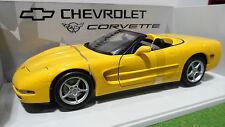 CHEVROLET CORVETTE Cabriolet 2000 jaune 1/18 d UT Models 21045 voiture miniature