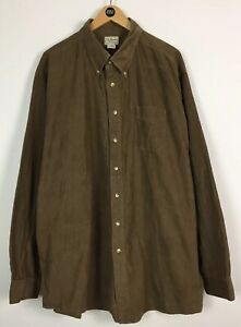 Mens L.L.Bean Corduroy Shirt / XXL / Tall / Country / Worker / Sports