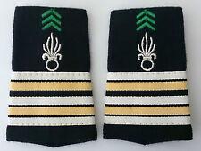 Fourreaux d'épaules Grades Galons pour LIEUTENANT-COLONEL Cavalerie 1°REC Légion