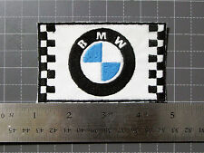 BMW FLAG RACING LOGO BADGE CAR BIKER MOTORCYCLE FORMULA PATCH - MADE IN USA