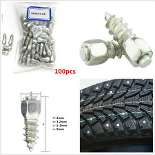 100pcs 9mm Screw in tire Stud Wheel Tyres Snow Chains For Motorcycle Car Truck
