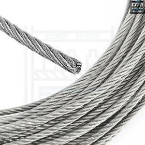 1mm 2mm 3mm 4mm 5mm 6mm 8mm 10mm GALVANISED STEEL WIRE ROPE LIFTING METAL CABLE