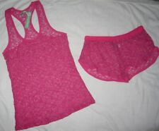 HONEYDEW NWT Pink Lace 2pc Lingerie Set Camisole Underwear Womens Size XL L