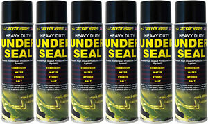 6 X UNDERSEAL AEROSOL UNDERGUARD SPRAY PAINT UNDER BODY PROTECTION SEAL 500ML