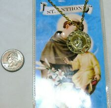 Goldtone New In Package St. Anthony Charm And Necklace