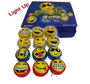 8 X Emoji YoYo Emoticon Light Up Yo Yo Party Favor Classic Toy Children Game Kid