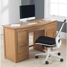 Crescent Solid Oak Furniture Large Computer Laptop Home Office Desk