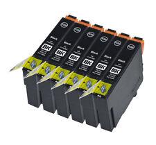 6 Compatible E711 Noir Jet d'encre Cartouches d'impression, Pour T0711 TO711 T0891 TO891