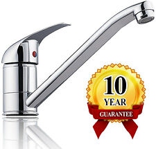 Chrome Kitchen Sink Spray Faucet Basin Mixer Tap Single Handle Swivel Spout Deck