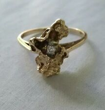 """Gold nugget diamond  engagement ring""signed LOVE STORY ///  TGW 2.O"