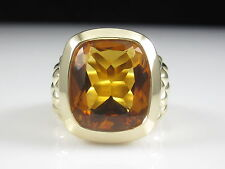 Citrine Ring 14K Yellow Gold Designer SKAL 10.9gr Fine Jewelry Estate Signed