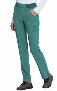 "Dickies Scrubs #195 Knit Drawcord Waist Cargo Scrub Pant in ""Teal"" Size XS"