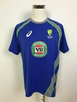 Asics Cricket Australia Mens International ODI One Day Training Jersey Size L