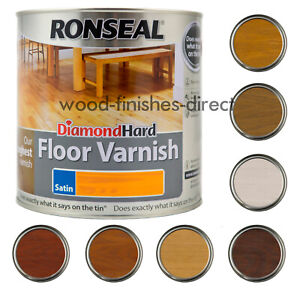 Ronseal Diamond Hard Coloured Floor Varnish - 2.5L - All Colours - FREE DELIVERY