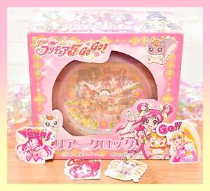 ❤️Yes! Precure 5 GoGo! Pretty Cure Table Clear Clock Toei Anime 10 cm Japan❤️