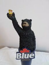 "Rear Labatt Blue Imported Toasting Black Bear w/ Stand 12"" Beer Keg Tap Handle"
