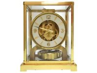 Jaeger LeCoultre Atmos Air Clock Gold Used Working Vintage