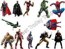 12 Marvel Super hero Stand Up Edible Rice Wafer Paper Cupcake Toppers Birthday