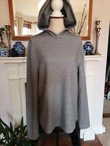 LULULEMON Running Gym Top long sleeves grey Hoodie sweatshirt M 12 14UK slum fit
