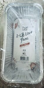 Fig & Leaf 2lb. Aluminum Loaf Pan 35 Pack  - Disposable HEAVY DUTY Bread Tins
