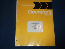 INTERNATIONAL PAYLINE 240A WHEEL BACKHOE TRACTOR OPERATION MAINTENANCE MANUAL